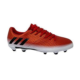 Adidas Messi 16.1 Firm Ground Red Lace Up Low Juniors Football Boots BA9142