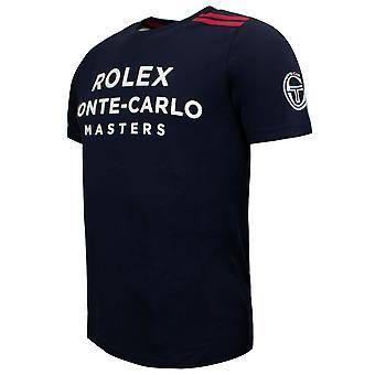 Sergio Tacchini New Irune T-Shirt Mens Graphic Logo Top Navy 38491 218