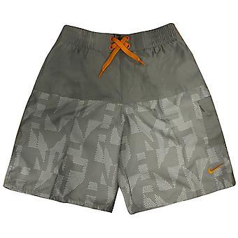 Nike Boys Board Shorts Kids Swimming Trunks Polyester Grey 465131 082 A12C