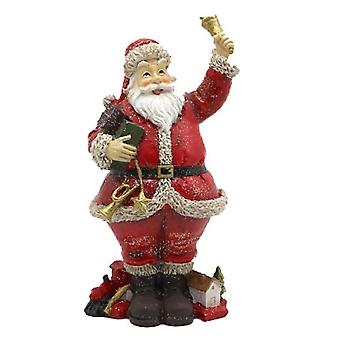 Dolls House Father Christmas With Bell & Toys Santa Claus Figure Miniature 1:12