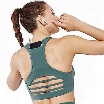 Horizontal mesh yoga bra Q59