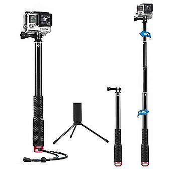 Mystery waterpro flexible telescoping monopod tripod with thumb screw and adjustable wrist strap com