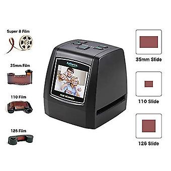 """Aggiorna scanner di pellicole e diapositive, scanner a film 135/35/126kpk/110/super 8, vibrante schermo LCD da 2,4"""""""