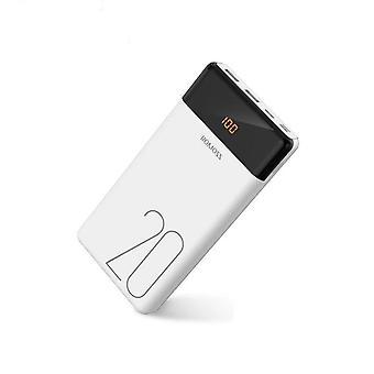Dual Usb Powerbank, externí baterie s led displejem rychlá přenosná nabíječka