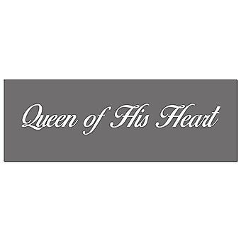Hill Interiors Queen Of His Heart Foil Plaque