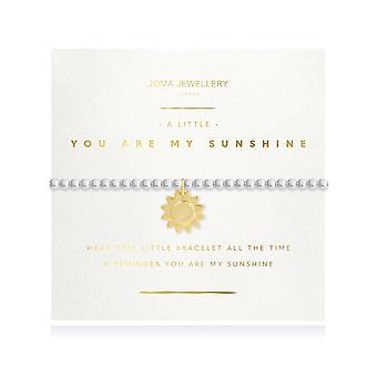 """ג'ומה תכשיטים זוהרים כמה אתה השמש שלי כסף 17.5 ס""""מ מתיחה צמיד 4216"""