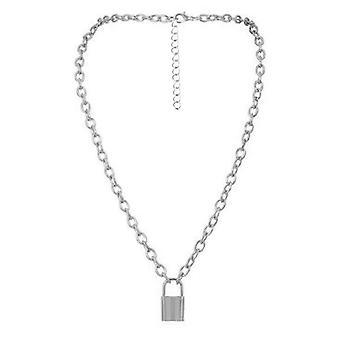 Choker Lock Necklace Layered Chain
