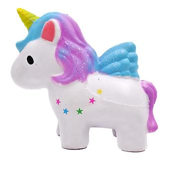 Kawaii Cake Squishy Jumbo Moon Unicorn Slow Rising Stress Relief Toy