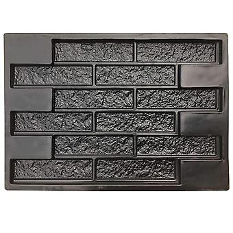 Plastic Concrete Plaster Garden House Wall Stone Mould