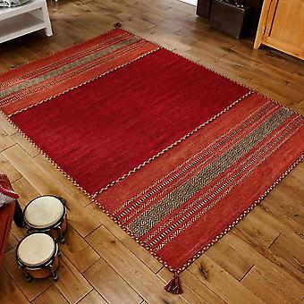 Kelim dywany w kolorze czerwonym