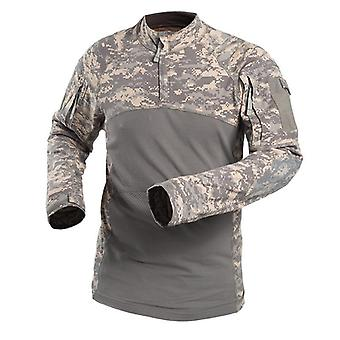 Military Camouflage Tactical T Shirt/long Sleeve Brand Cotton Breathable Combat