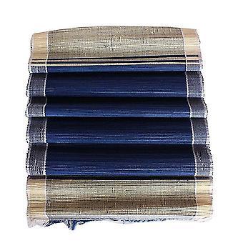 La rafia africana deja un conjunto de tapetes y corredor de mesa