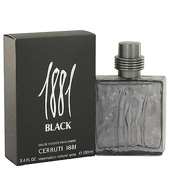 1881 Black Eau De Toilette Spray By Nino Cerruti 3.4 oz Eau De Toilette Spray