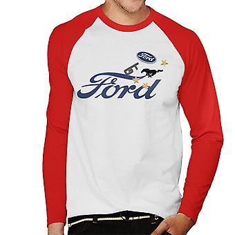 Ford GT Logo Hombres's Béisbol camiseta de manga larga