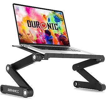 Duronic Laptop Stand DML121 | Multi-use Folding Desk Riser | Highly Adjustable | Support Tray