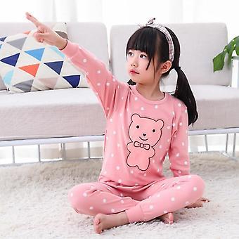 Lasten pyjama, Puuvillavaatteet Housut Setti, Piirretyt Univaatteet, Asut, Lapsi