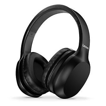 Lenovo HD100 Bluetooth Hoofdtelefoon met AUX Aansluiting - Headset met Microfoon DJ Hoofdtelefoon Zwart