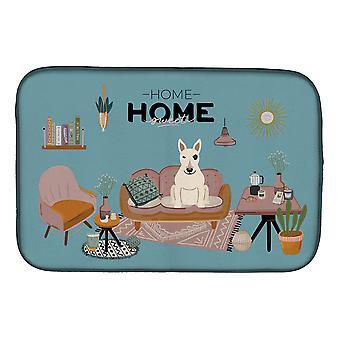 Carolines Treasures  CK7983DDM White Bull Terrier Sweet Home Dish Drying Mat