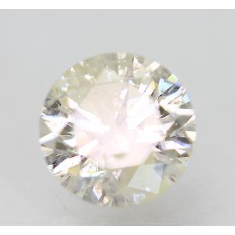 Certificado 1.52 Quilates H Color Redondo Brillante Diamante Natural Mejorado 7.22mm