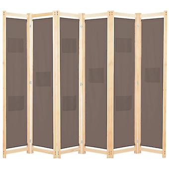 vidaXL 6 قطعة غرفة مقسم البني 240 × 170 × 4 سم النسيج