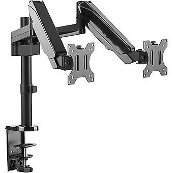 Monitor-Ständer 2 Monitore-Halterung Gasdruck-Feder Schwenkbar Neigbar (TS3911) Universal 17-32 Zoll