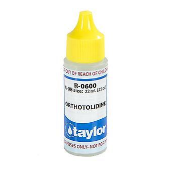 Taylor R-0600-A-DB 0.75OZ Orthotolidine Solution Dropper Bottle