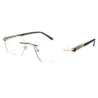 Paul Vosheront Eyeglasses Frame PV504 C02 Gold Plated Acetate Italy 52-17-135 36