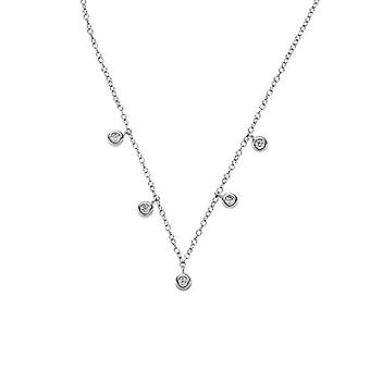 NOELANI Women's pendant necklace, sterling 925 silver, with zircons(2)