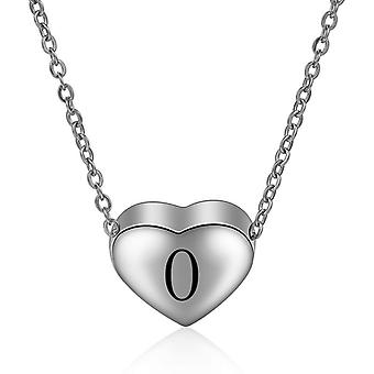 Sterling Silver Initial Necklace Letter O