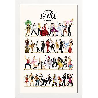 JUNIQE Print - Everybody Dance Now - Dansaffisch i Färgglada