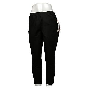 Kvinder med Kontrol Kvinders Leggings Petite Fit Pull-On Black A235952