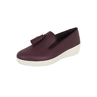 Fitflop Femmes Tassel Superskate Cuir Mocassin Chaussures