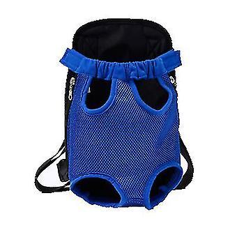 """L 38 * 23 ס""""מ כחול שקית לחיות מחמד ניידת חיצונית, תרמיל רשת לנשימה לחתולים וכלבים az7824"""