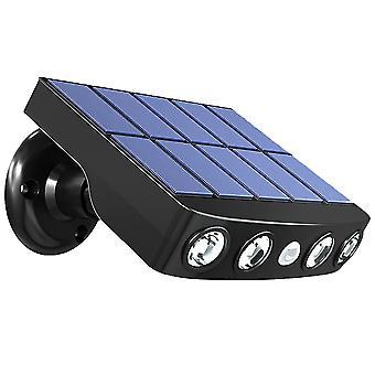14*11 Cm sort 1pc sollampe græsplæne have væglampe udendørs belysning sensing gadelampe (sort) dt3333