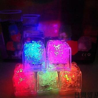 new quick flashing led ice cubes glowing party ball luminous neon wine glass decoration sm30625