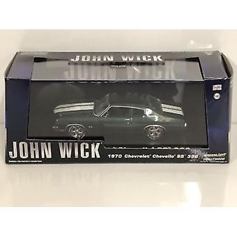 John Wick 2 1970 Chevrolet Chevelle SS 396 Échelle 1:43 Greenlight 86541