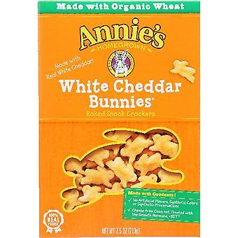 Annie's Homegrown Cracker Wht Chdr Bunny, Case of 12 X 7.5 Oz