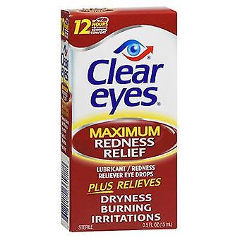 Kirkkaat silmät kirkas silmät suurin punoitus helpotus silmätivat, 0,5 oz