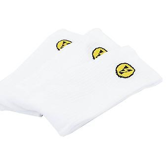 Yellow Socks Pack 3 Thunder Socks Wit