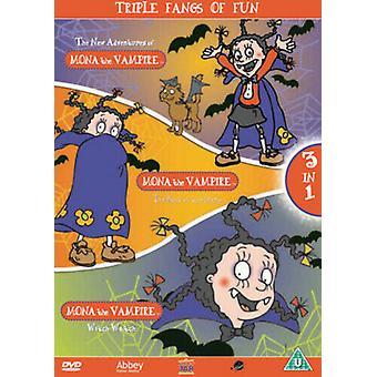 Mona the Vampire Triple Fangs of Fun DVD (2004) Mona the Vampire cert U 3 Region 2