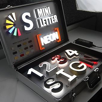 Led-merkki kirjaimet näytelaatikko 3d ruostumattomasta teräksestä led-kanavan kirje myymälään