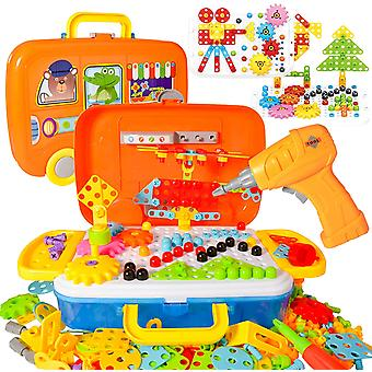 Learning Toys 276 Pcs Building Block, Creative Electric Diy Drill Puzzle