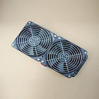 Aluminum 240mm Water Cooling Cooled Row Heat Exchanger Radiator+fan For Cpu Pc