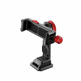 ST-14 Metal Smartphone Holder Phone Clamp Bracket 360 Rotatable with Cold Shoe for Smartphones Vlog