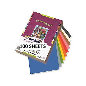 100 Assorted Colour A3 Construction or Sugar Paper | Papercraft Paper Packs