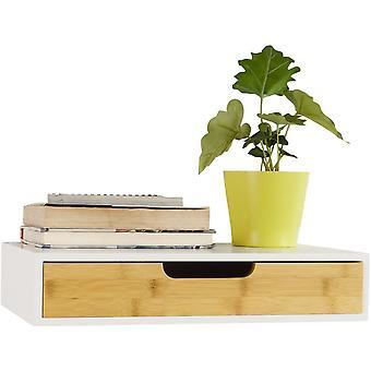 SoBuy mur étagère stockage affichage étagère avec tiroir, FRG92-WN