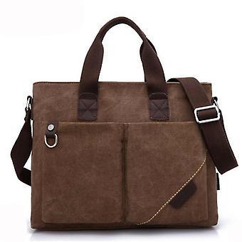 حقيبة حقيبة الترفيه حقيبة حقيبة رسول قماش براون الرجال