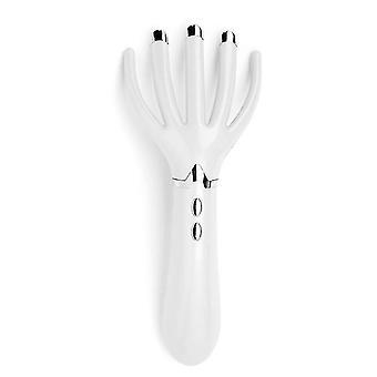 Elektrischer Kopf Kopf Kopfklaue Massagegerät Octopus Scratcher Massage Handheld Vibration Tool (Weiß)
