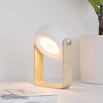 New creative wood handle foldable night lights reading lamp portable lantern lamp telescopic folding led table lamp usb charging