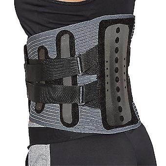 Adjustable medical therapy waist belt lumbar support back support brace double banded posture